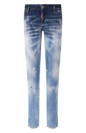 Укороченные джинсы Dsquared2. Цвет: синий