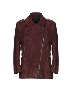 Куртка ENES. Цвет: красно-коричневый