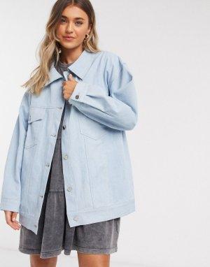 Светлая джинсовая куртка oversized -Синий Daisy Street