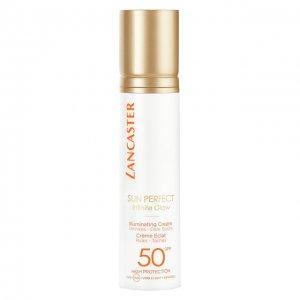 Солнцезащитный крем для сияния кожи лица SPF 50 Lancaster. Цвет: бесцветный