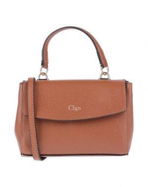 Сумка на руку CLIPS. Цвет: коричневый