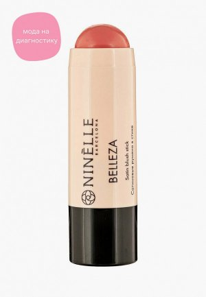 Румяна Ninelle в стике сатиновые BELLEZA №421 теплый розовый, 6 мл. Цвет: розовый