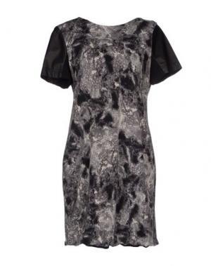 Короткое платье CUT25 by YIGAL AZROUËL. Цвет: серый