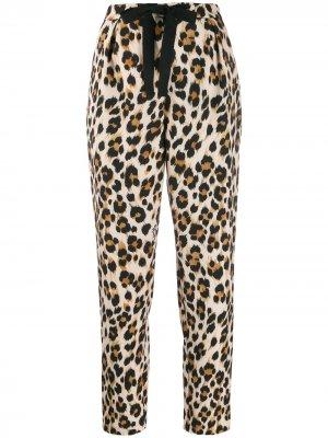 Укороченные брюки капри с леопардовым принтом Boutique Moschino. Цвет: нейтральные цвета
