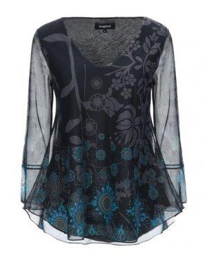 Блузка DESIGUAL. Цвет: стальной серый