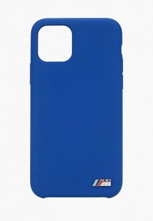 Чехол для iPhone BMW 11 Pro, M-Collection Liquid silicone Navy. Цвет: синий