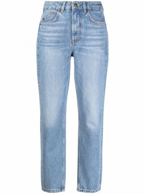 Прямые джинсы средней посадки Maje. Цвет: синий