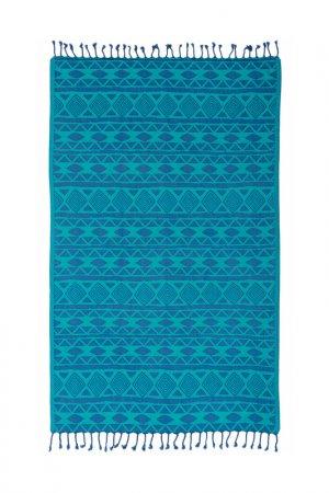 Пляжное полотенце Begonville. Цвет: синий, зеленый