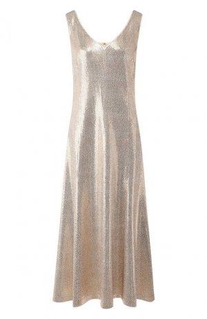 Платье-миди St. John. Цвет: золотой