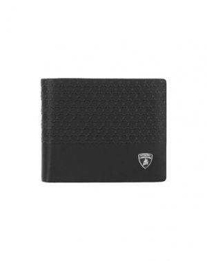 Бумажник AUTOMOBILI LAMBORGHINI. Цвет: черный