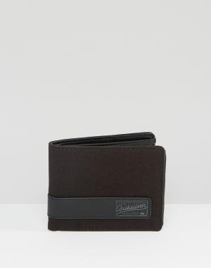 Бумажник из черной кожи Quicksilver Macking Quiksilver. Цвет: черный