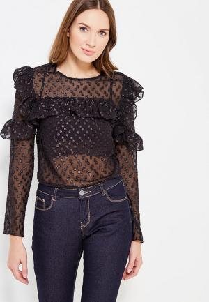 Блуза Soeasy Glitter Wave. Цвет: черный