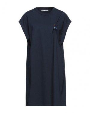 Короткое платье ACNE STUDIOS. Цвет: темно-синий