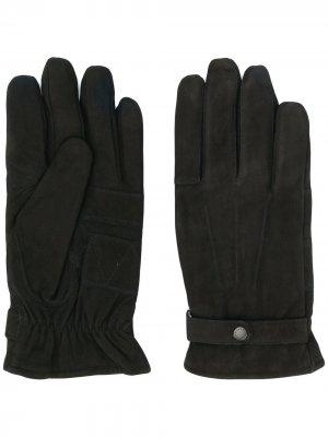 Перчатки с застежкой на кнопке Barbour. Цвет: черный