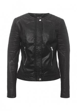 Куртка кожаная Incity. Цвет: черный