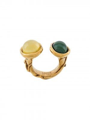 Кольцо с декоративными камнями Loewe. Цвет: золотистый