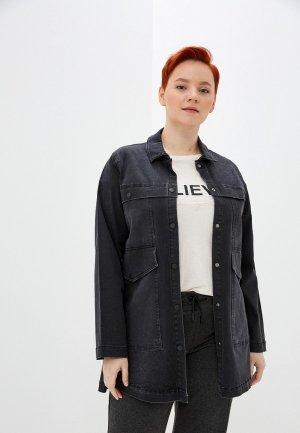 Куртка джинсовая Полное счастье. Цвет: серый