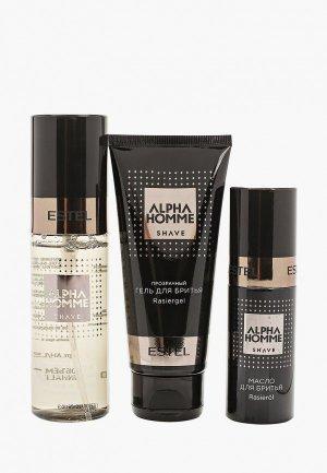 Набор Estel ALPHA HOMME для бритья PROFESSIONAL 50+100+100 мл. Цвет: черный