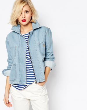 Джинсовая куртка с выбеленным эффектом Anglomania Vivienne Westwood. Цвет: синий