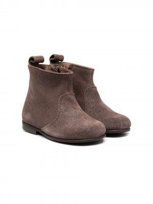 Ботинки с эффектом металлик Pèpè. Цвет: коричневый