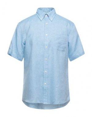 Pубашка BROOKS BROTHERS. Цвет: лазурный