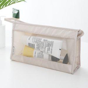 1шт Портативная дорожная сумка для хранения SHEIN. Цвет: бежевые