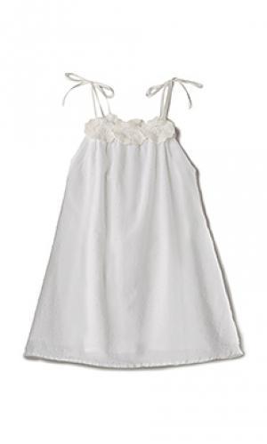 Платье-майка willa jean For Love & Lemons. Цвет: белый