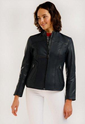Куртка кожаная Finn Flare. Цвет: синий
