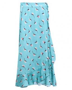 Длинная юбка DRY LAKE.. Цвет: бирюзовый