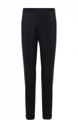 Шерстяные брюки Brioni. Цвет: синий