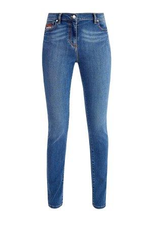Классические джинсы на высокой посадке с логотипом Bamboo Tiger KENZO. Цвет: синий