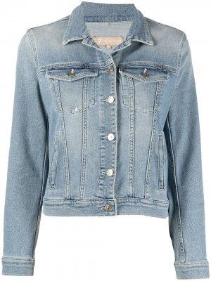 Приталенная джинсовая куртка 7 For All Mankind. Цвет: синий