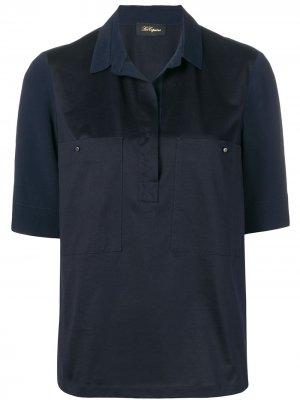 Рубашка с потайной застежкой Les Copains. Цвет: синий