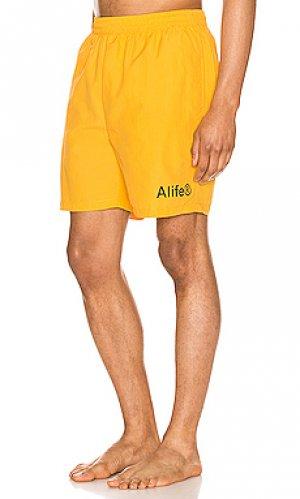 Шорты ALIFE. Цвет: желтый