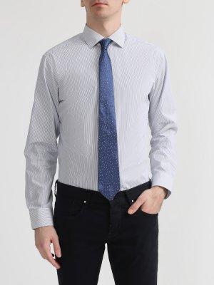 Мужской галстук из шелка Cerruti 1881. Цвет: siniy
