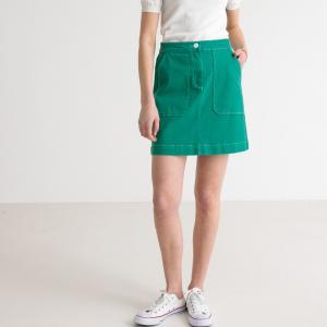 Юбка короткая с 2 большими накладными карманами LA REDOUTE COLLECTIONS. Цвет: зеленый,красный