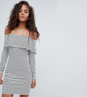 Облегающее платье в полоску с длинными рукавами ASOS DESIGN Tall-Мульти Tall