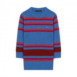 Шерстяной пуловер Acne Studios. Цвет: синий