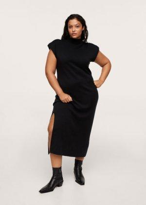 Приталенное платье с вырезом - Audrey Mango. Цвет: черный