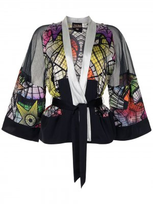 Топ с принтом и широкими рукавами Jean Paul Gaultier Pre-Owned. Цвет: разноцветный