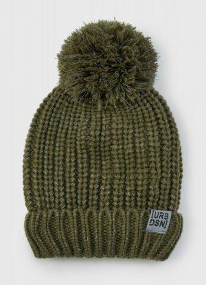 Вязаная шапка для мальчиков O`Stin. Цвет: хаки