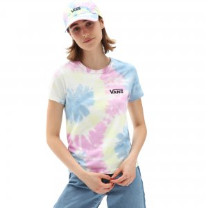 Детская футболка Spiraling Wash Baby Tee VANS. Цвет: охра