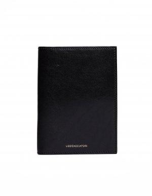 Черный кожаный кошелек Passport Ugo Cacciatori