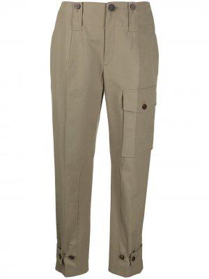 Прямые брюки карго Chloé. Цвет: зеленый