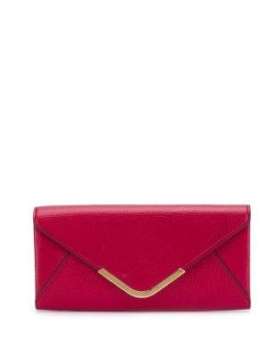 Кошелек-конверт Anya Hindmarch. Цвет: красный
