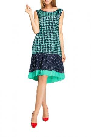 Платье Giulia Rossi. Цвет: синий, зеленый