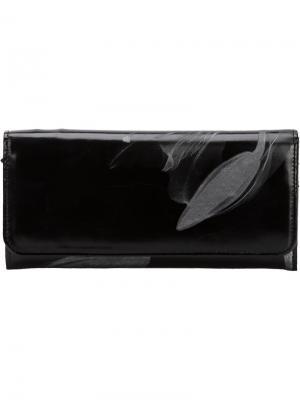 Кошельки и визитницы Yohji Yamamoto. Цвет: чёрный