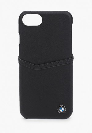 Чехол для iPhone BMW 8 / SE 2020, Signature Card slot Leather Black. Цвет: черный