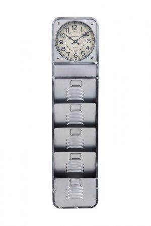 Часы настенные 124 см Kare. Цвет: серый