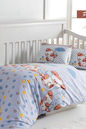 Постельное Белье детское Arya home collection. Цвет: голубой